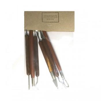 Набор моделирующих стеков с деревянной ручкой